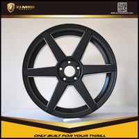 ZUMBO Z84 Semi Matt Black Milling Car Aluminum Alloy Wheel Rims