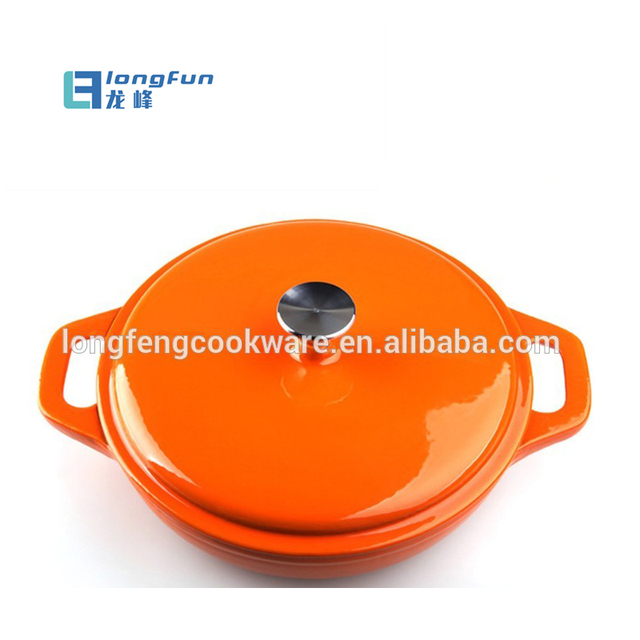 Round Cast Iron Casserole Pot Cookware Oven With Enamel Coating
