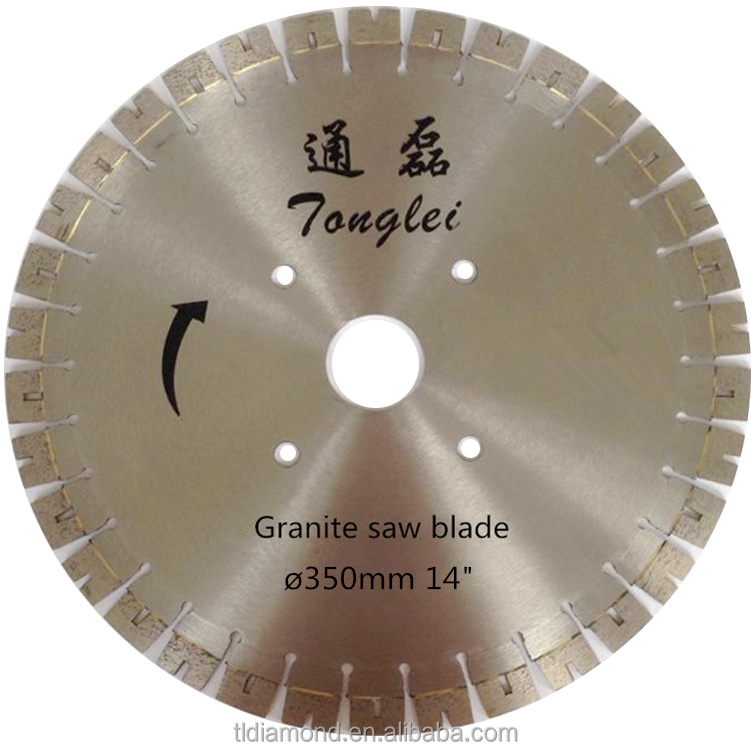 350mm 14 inch u segment diamond saw blades for granite stone cutting