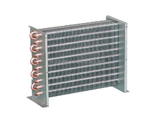 Air to water stainless steel coil heat exchanger with fan