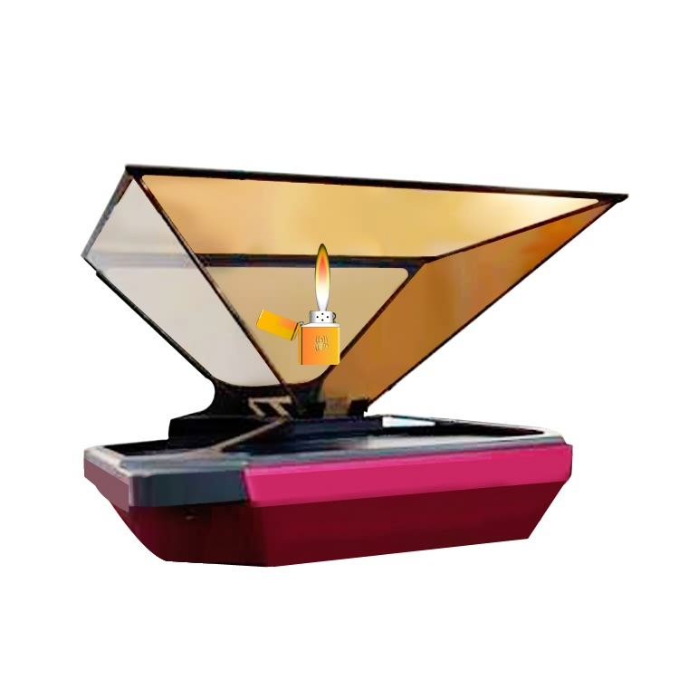 Indoor 3d holographic display pyramid hotel lcd display-lg tft-digital signage