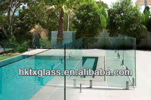 frameless tempered / toughened glass pool fence