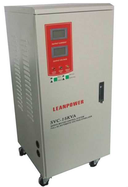 Ac Automatic high precision Voltage Regulator SVC-15KVA with Digital