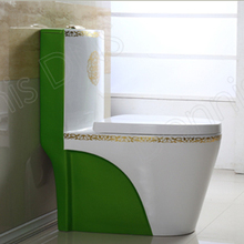 Honduras 2037G-1 Gold Green Colored Toilets