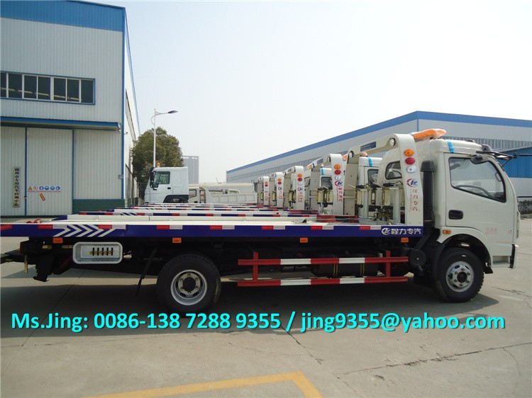 2016 New Condition Euro3 flatbed wrecker 4x2 wrecker tow trucks 3-5T on sale in Peru