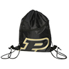 210D Black Custom Logo Sublimation Drawstring Bag With Front Zipper Pocket
