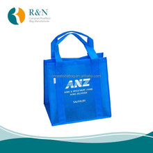 E0030 2017 China factory Price High Quality Blue Color PP Non Woven Shopping Bag,Reusable Grocery Handle Bag