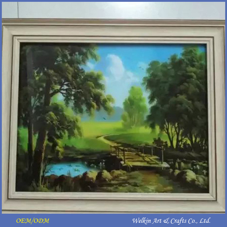 Western miniature framed paintings cheap china factory price