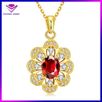 Fashion latest design beads necklace, 18K gold color bead necklace designs, ruby jewelry bead necklace
