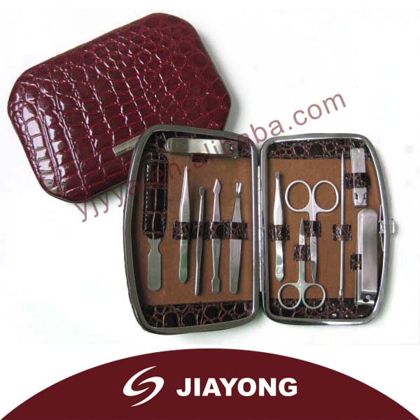 Deluxe Manicure Set for Women in PU Leather