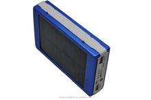 RoHS, CE, FCC 5V/1A 13000mAh portable solar power banks 18650 battery pack solar cell phone charger