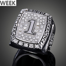 Week Customizable Design Baseball Basketball Football Hockey Hall Of Fame Silver Gold Championship Large Size Jewelry Ring