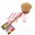 wood handle pan and dish brush with tampico bristle