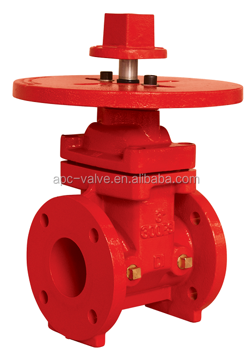 300 PSI NRS Type Fire protection Flange End Gate Valve FM UL approved