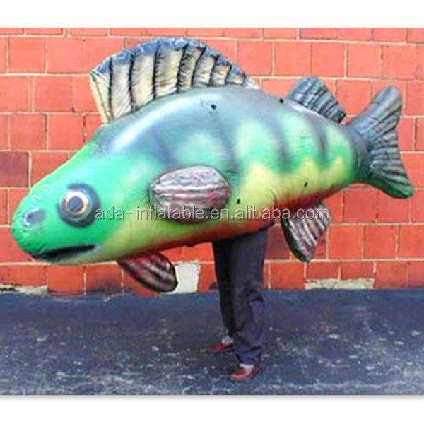 Inflatable Fish Costume Walking cartoon Moving Animal For Ocean Event Advertising A188
