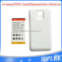 high capacity 7800mAh Long Life Battery for Samsung S5 SV i9600 W/ Extended Rear Case