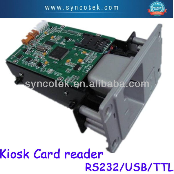 All in 1 kiosk EMV certificated manual magnetic IC rf card reader CRT-288-K001