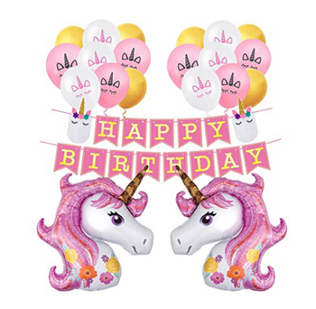 Amazon Hotsale Happy Birthday Unicorn Theme Party Decoration Unicorn Balloons Birthday Supplies Decorations