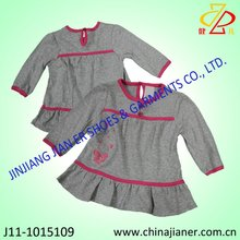 100% Cotton girl's dress new design