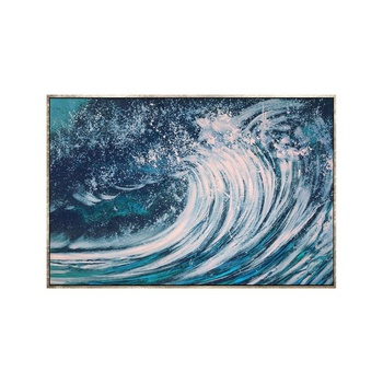 High Quality New Design Wall Art Decorative Handmade Large Canvas Modern Artworks Abstract Seascape Wave Oil Paintings