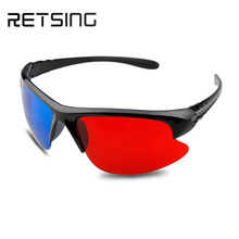 2015 fashion low price 3d plastic frame red blue glasses for TV or Film