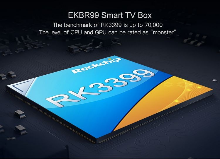 EKBR99 with USB 3.0 4GB Ram 32GB Rom Android 6.0 TV Box RK3399