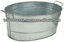 GalvaniZed Metal Tin Bucket Tub