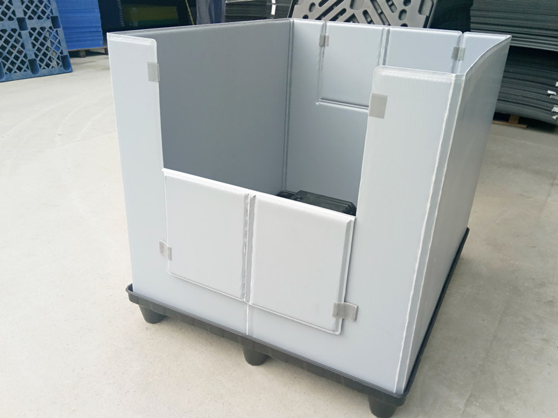 foldable heavy duty plastic pallet box
