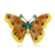 Wholesale dripping oil and inlay crystal beautiful butterfly brooch vintage multi colors christmas animal brooches