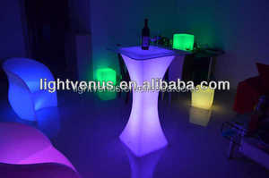Multi Color Change party interactive led bar table desk furniture shelf