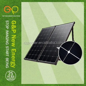 160W portable mobile solar panel & battery charger