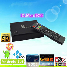 2016 Manufactory supply ! K1 Plus S905 With Best Cpu 1G8G Android 5.1.1 Tv Box sunsat mx9 Support Order Sample Test And Discount