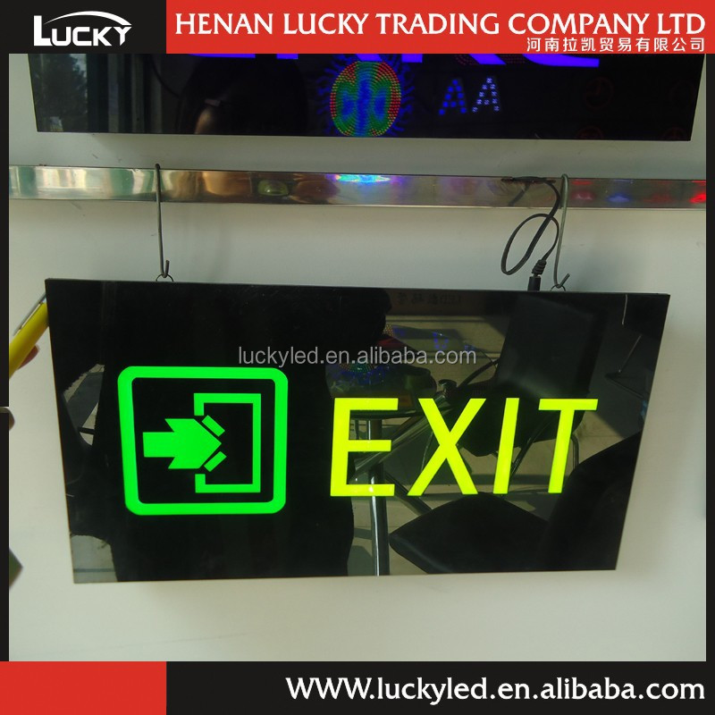 High quality manufacturer LED exit epoxy resin sign board
