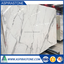 italian calacatta marble white and gold bookmatch slab