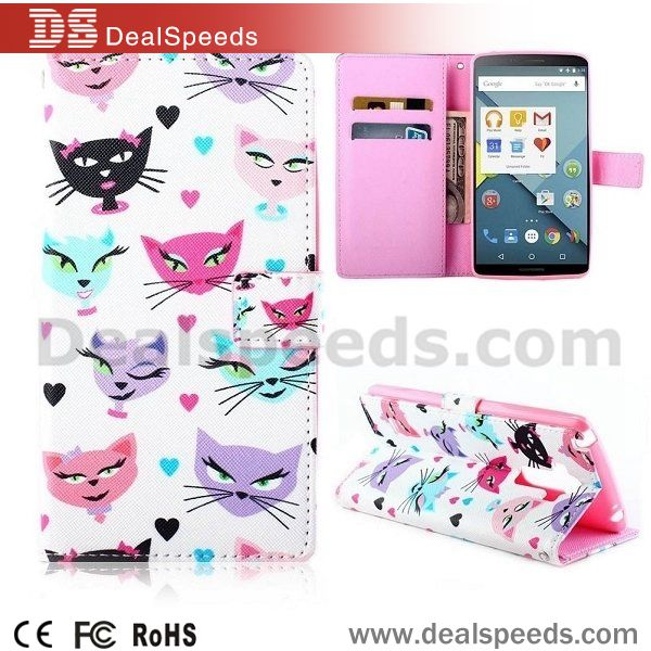 Cross Texture Flip Stand TPU+PU Leather Case for LG G4 Stylus - Multi-color Cats