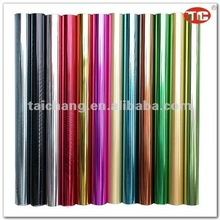 Hot stamping foil for paper/PET/PVC