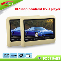 800*480 RGB 10.1 inch automobile headrest dvd player for bmw