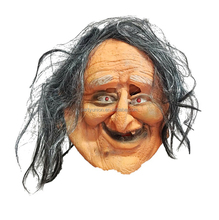Halloween Horrible Horror Soft Plastic Mask Ugly Old Woman Mask
