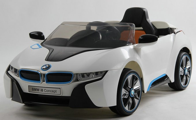 I8 Licensed Ride on Car 12V Kids Electric Car Toys in Champagne Color