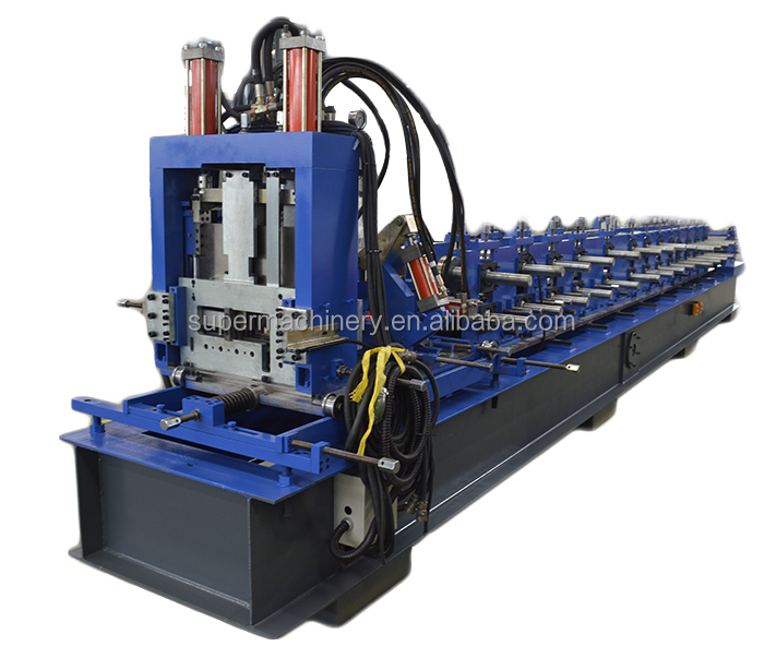 Best selling z purlin roll forming line with flying saw