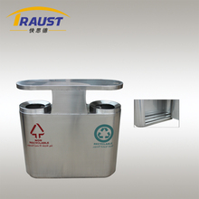 Two Compartment Stainless Steel Trash bins