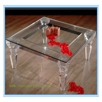 Morden Design Customized Clear Acrylic Dining