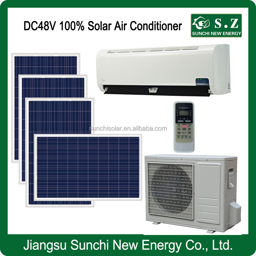 Made in china 12000BTU 18000BTU DC48 100% solar air conditioner specifications