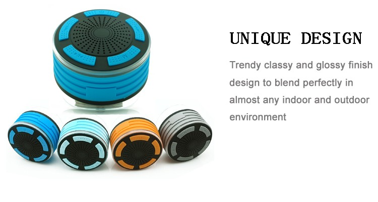 Hot for 2017 new technology 5W super bass sound IPX7 waterproof mini speaker bluetooth