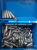 Various sizes of carbide blank dental burs