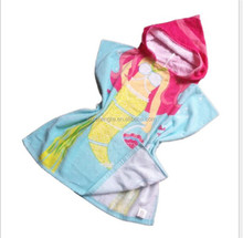 Children's bathrobe cotton material bath towel hooded towel