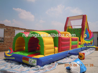 outdoor inflatable playground, kids outdoor obstacle course, cheap inflatable obstacle