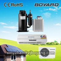 100% Solar System 48V DC Solar Air Conditioner 9000BTU/1Hp Wall Split Home use Hybrid DC Inverter Solar airconditioner
