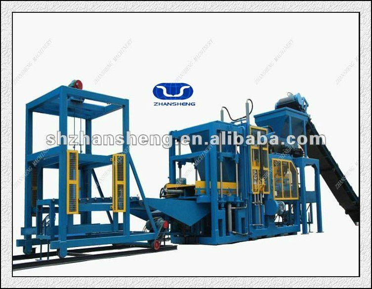 ZS-QT4-15 Concrete Block Raw Material and Full Automatic Block Making Machine