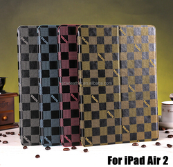 Square Design Protective Sleeve For iPad Air 2 PU Leather Case